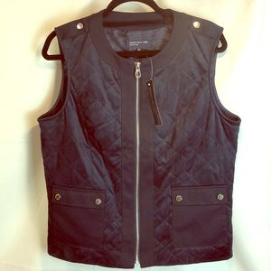 Jones New York Signature Navy Polyester Vest